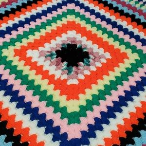 Hand Knit Vintage Afgan